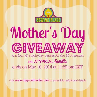 Sesame Place Mother's Day GIVEAWAY!