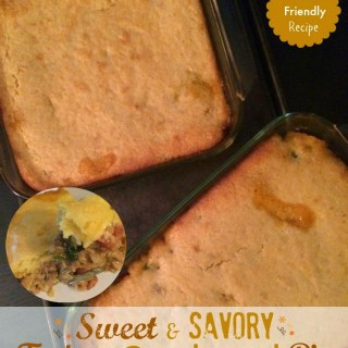 Family Friendly Sweet & Savory Turkey Cornbread Pie