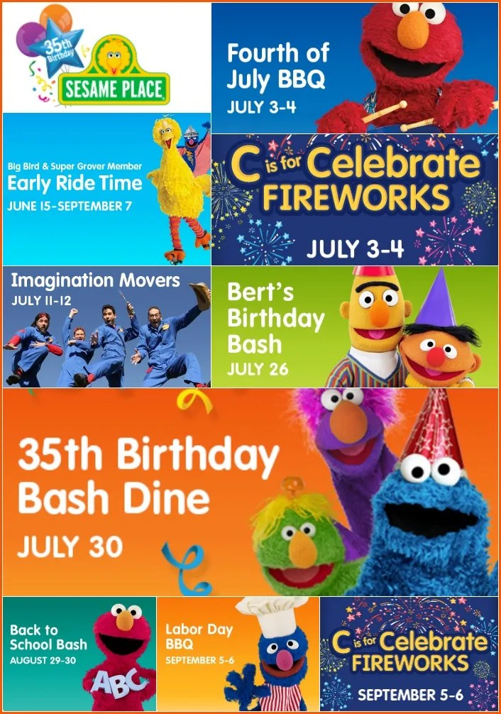 Sesame Place Summer Events 2015
