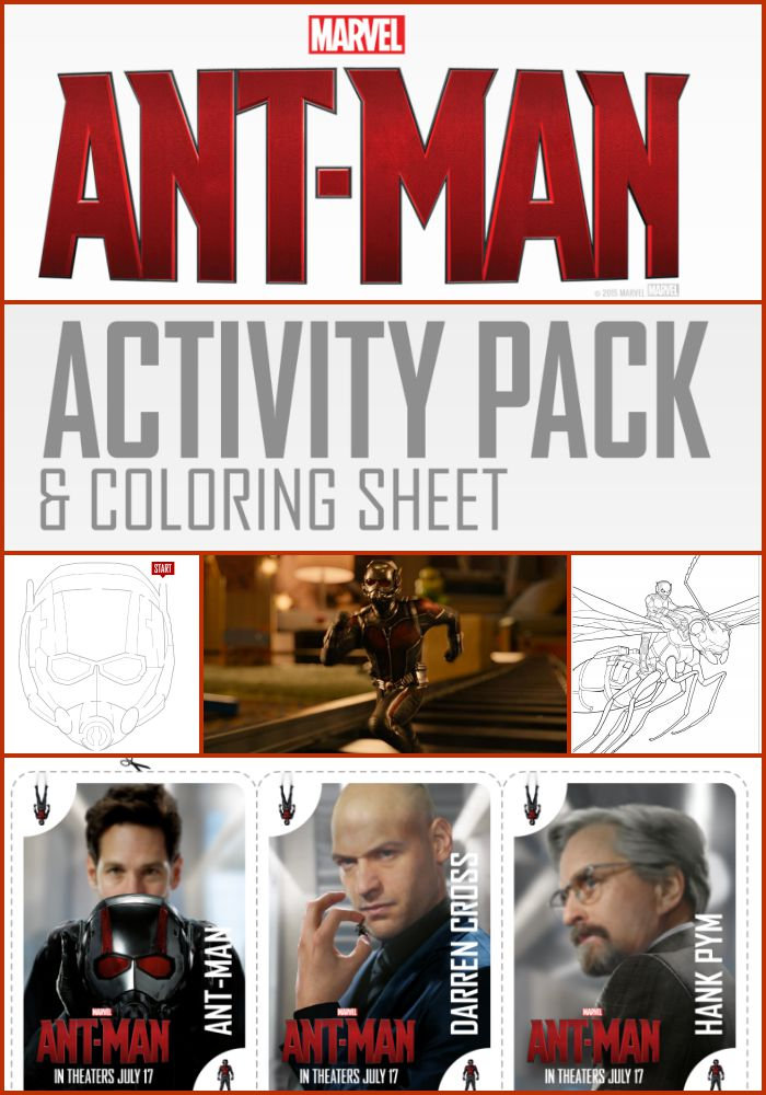 FREE Ant Man Activity Pack and Coloring Pages