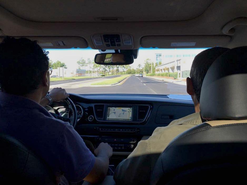 Driving Kia Sedona