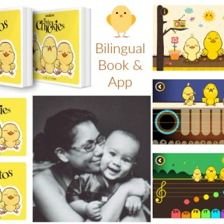Little Chickies / Los Pollitos: bilingual board book & app