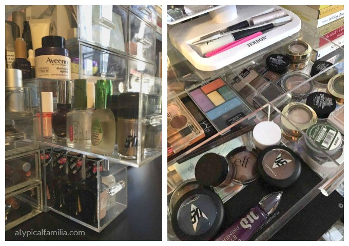 makeup storage acrylic case