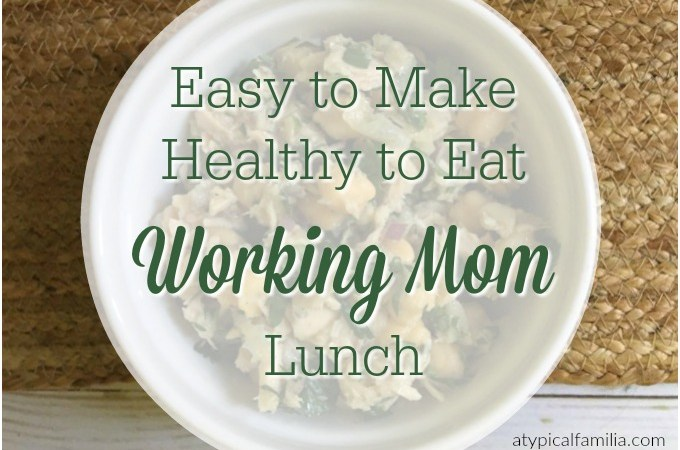 Easy to Make Healthy to Eat Working Mom Lunch Tuna and Chick Pea