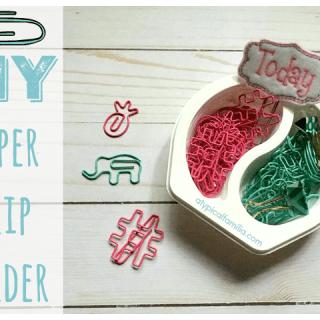 EASY DIY Paper Clip Holder