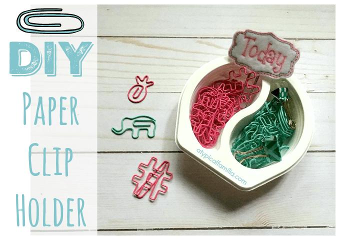 DIY Paper Clip Holder via Atypical Familia Lisa Quinones Fontanez