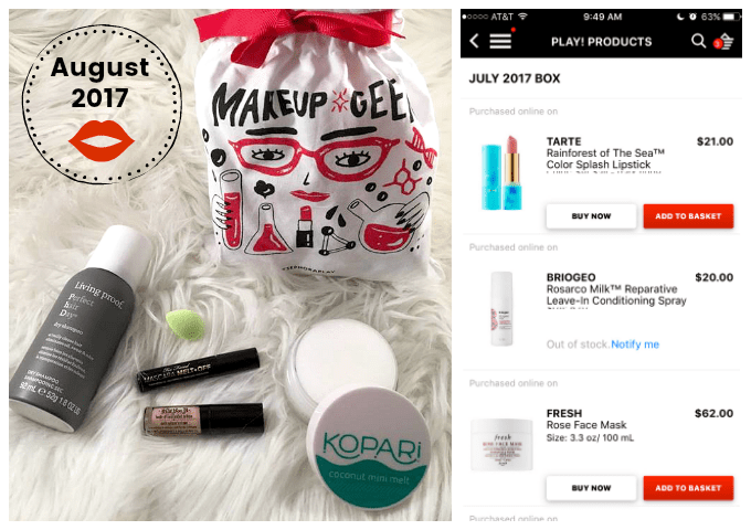 Play by Sephora August beauty box Play Products July Sephora App via Atypical Family by lisa quinones fontanez