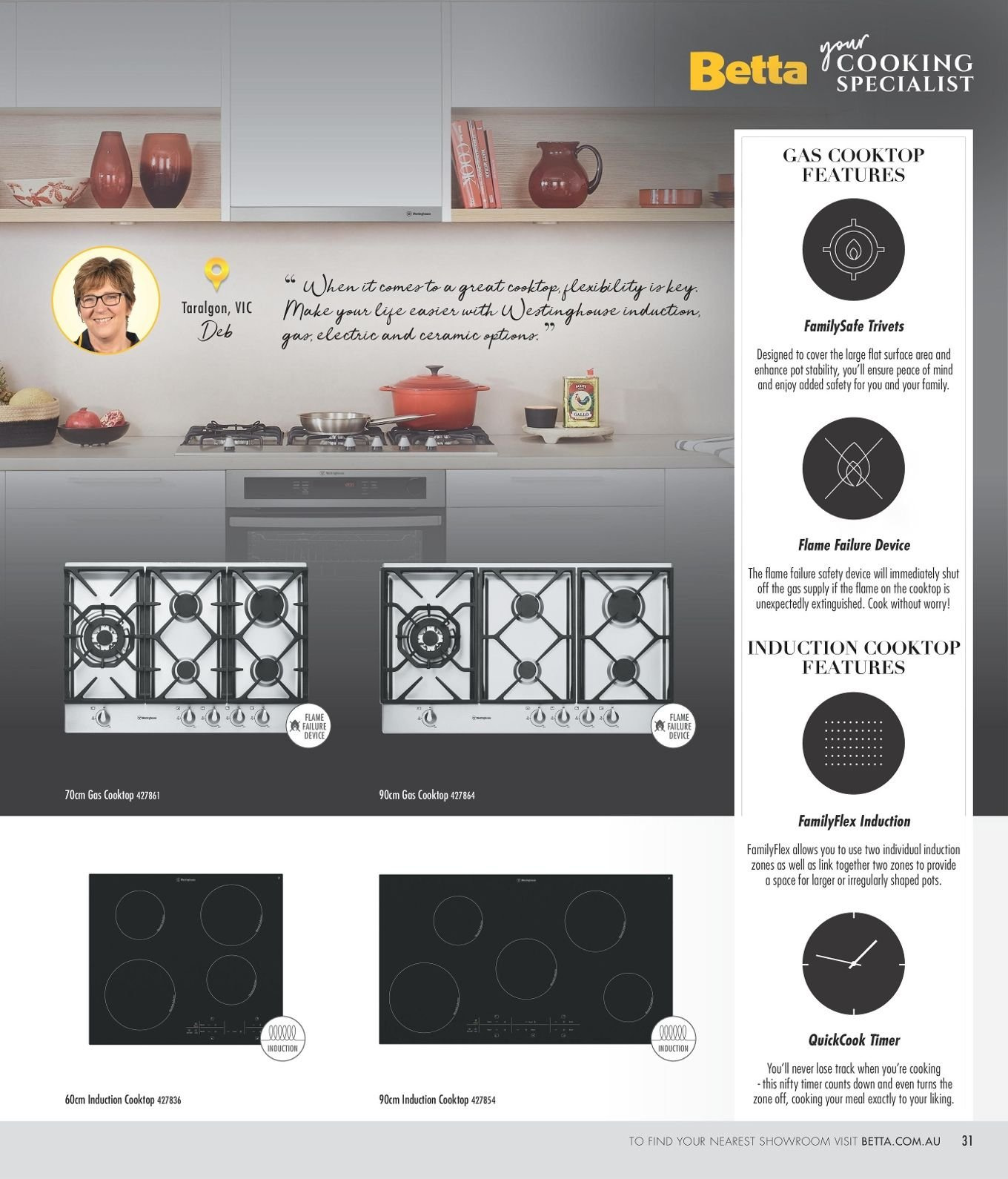 70cm Induction Cooktop Current Betta Catalogue Au Catalogues