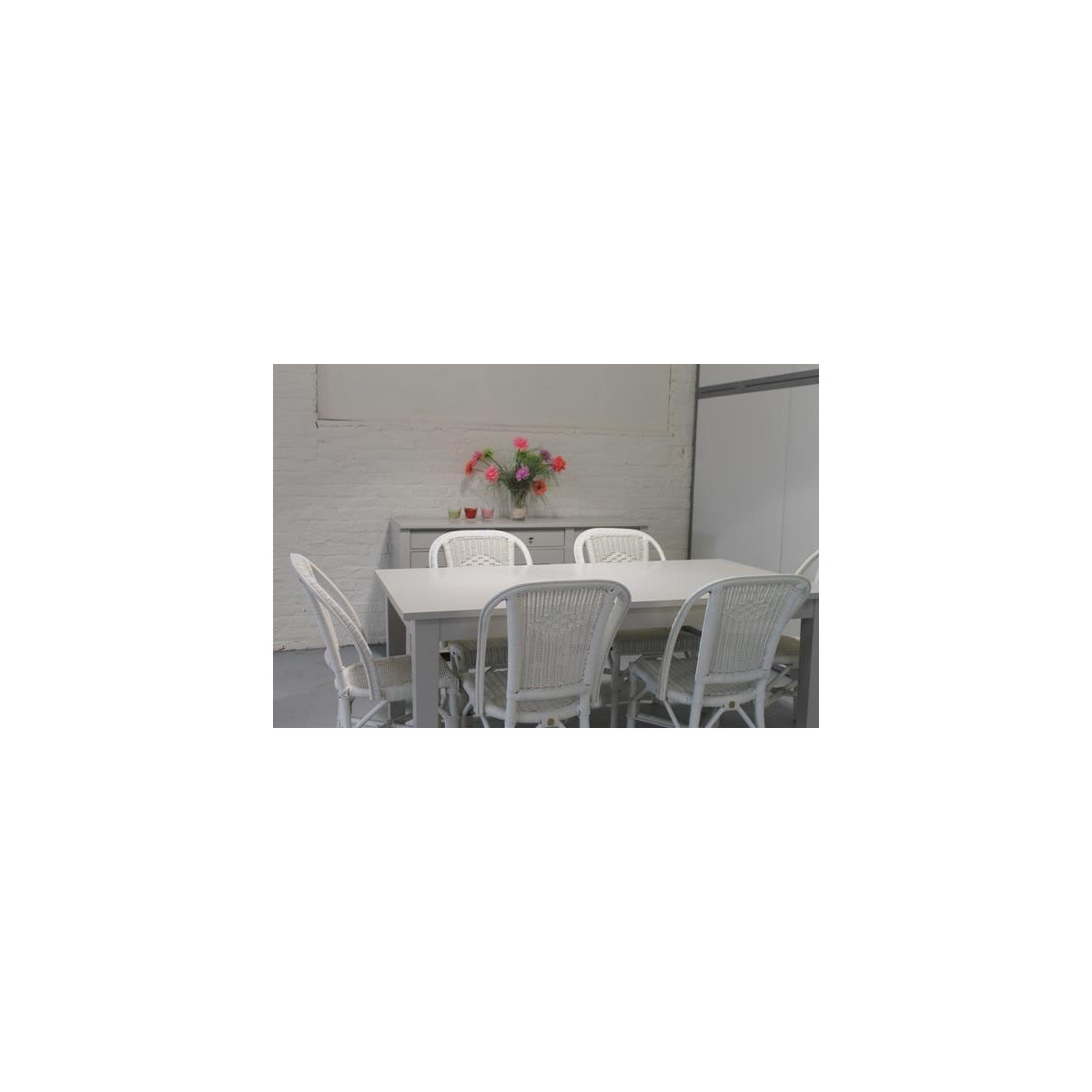 Chaise Grand Pere En Moelle De Rotin Blanc