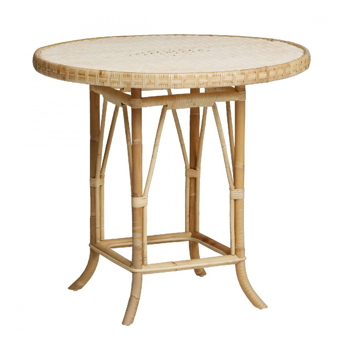 Table Ronde 80 Cm Table Grand Père Rotin Naturel Diam 80 Cm