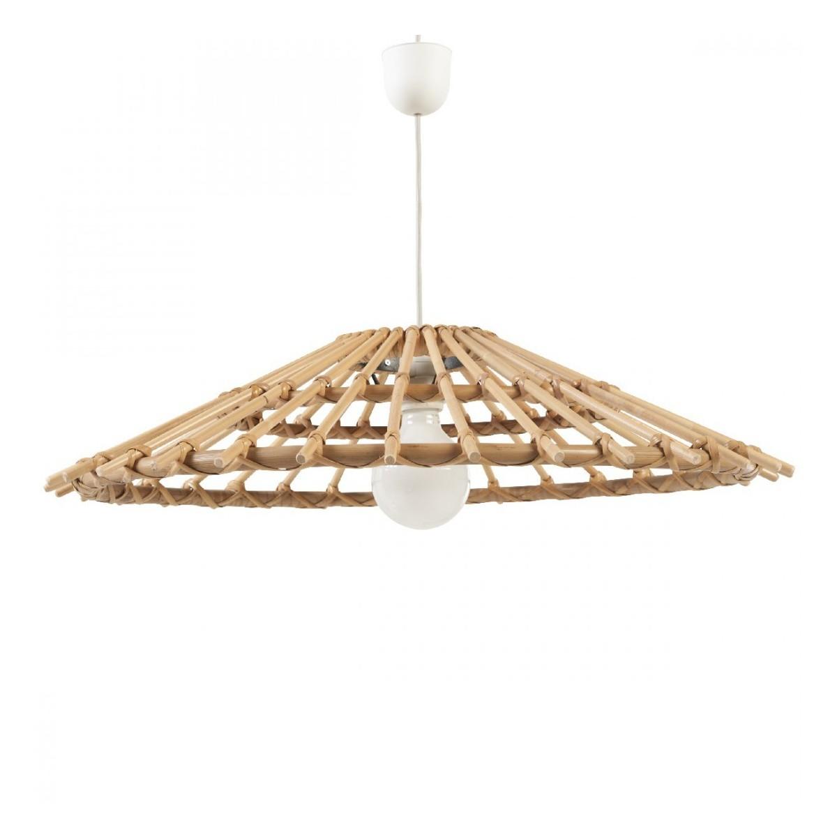 Lustre En Rotin Suspension Rotin