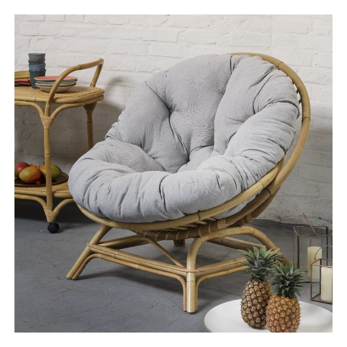 Fauteuils Coquille Fauteuil Maxi Coquille Rotin Naturel