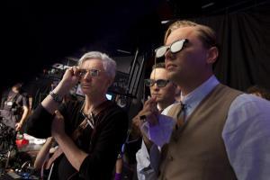 Baz Luhrman, Tobey Maguire & Leonardi Di Caprio