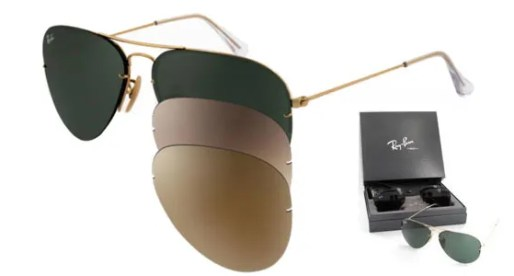 Glasses with interchangeable lenses