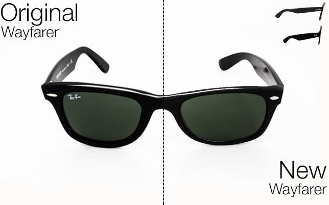 authentic ray ban wayfarer  Ray-Ban: Original Wayfarer vs New Wayfarer