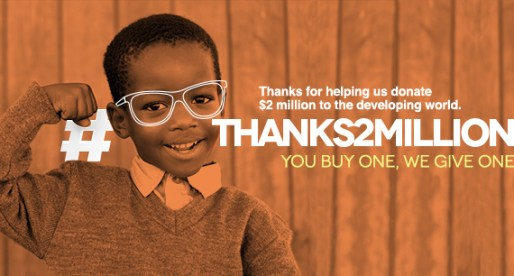 More than 2 Millions donated thanks to Buy One Give One