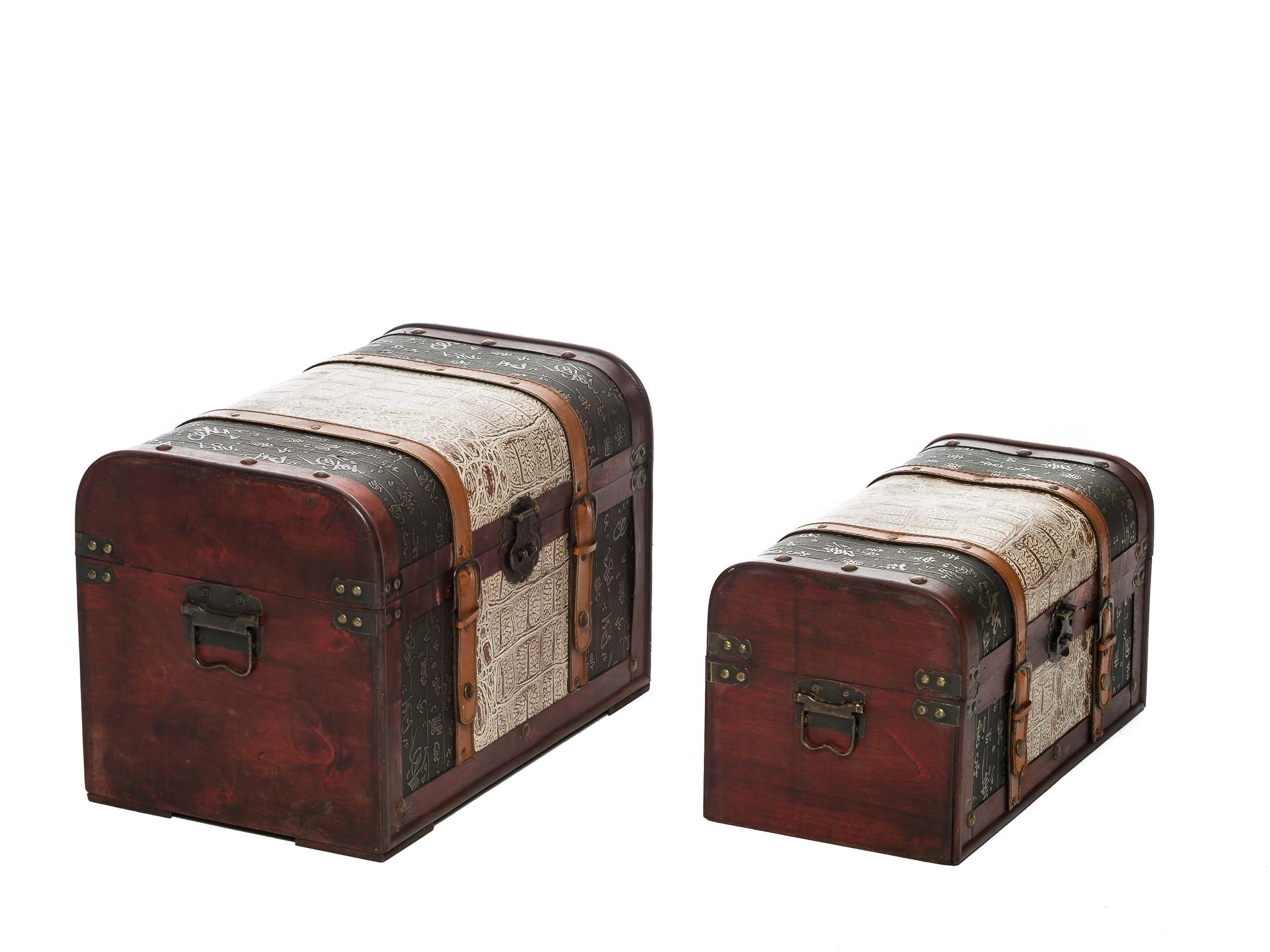 Truhe Aufbewahrung Set Of 2 Beautiful Chests Vintage Style Set Wood