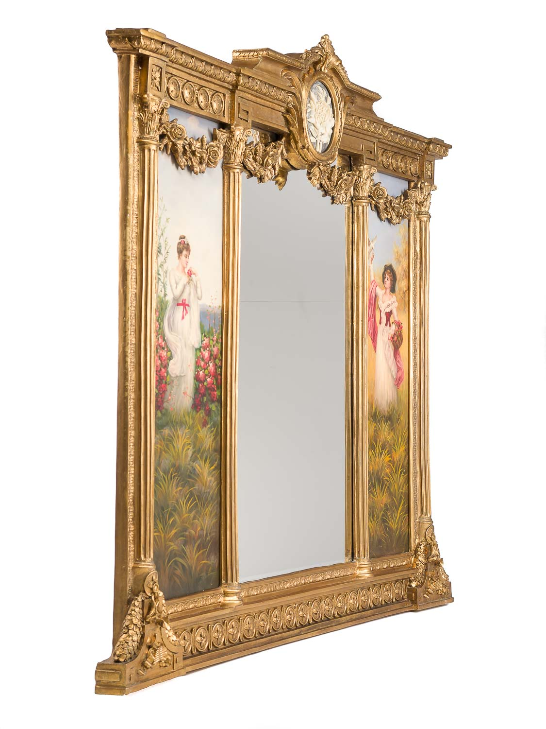 Spiegel Mit Installation Giant Mirror Baroque Antique Louis Xvi Style Painting