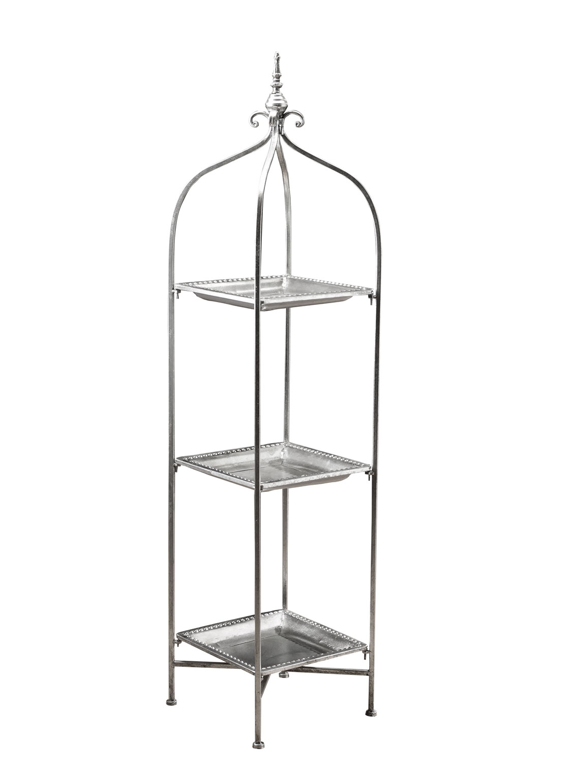 Orientalisches Regal Nostalgie Regal Etagere 128cm Blumenbank Antik Stil Metall