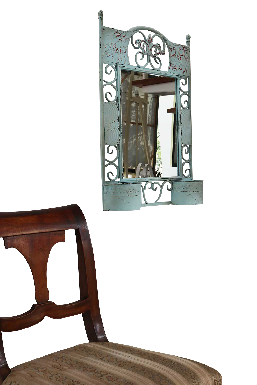 Spiegel Metall Wall Mirror Metal Mirror Stand Mirror With Containers Antique Style