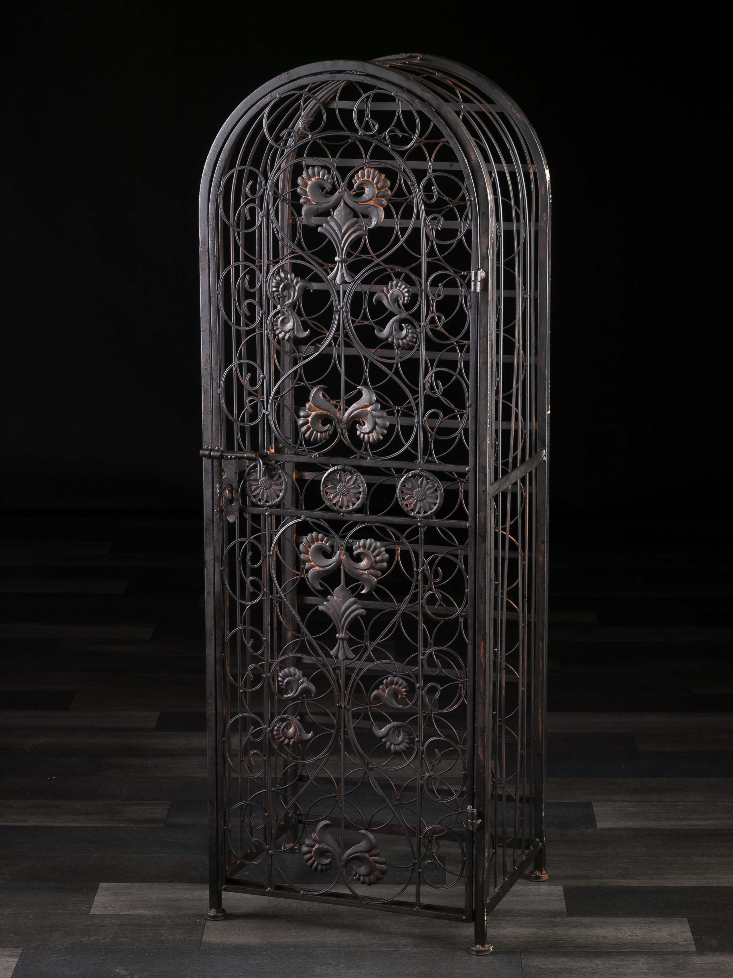Antik Metall Wine Shelf Antique Style Fleur De Lis Metal Bottle Wine Rack Wine Cabinet Shelf