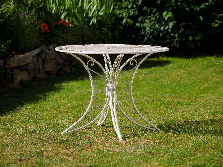 Gartentisch Aus Eisen Gartentisch Antik Grun Beistelltisch Outdoor