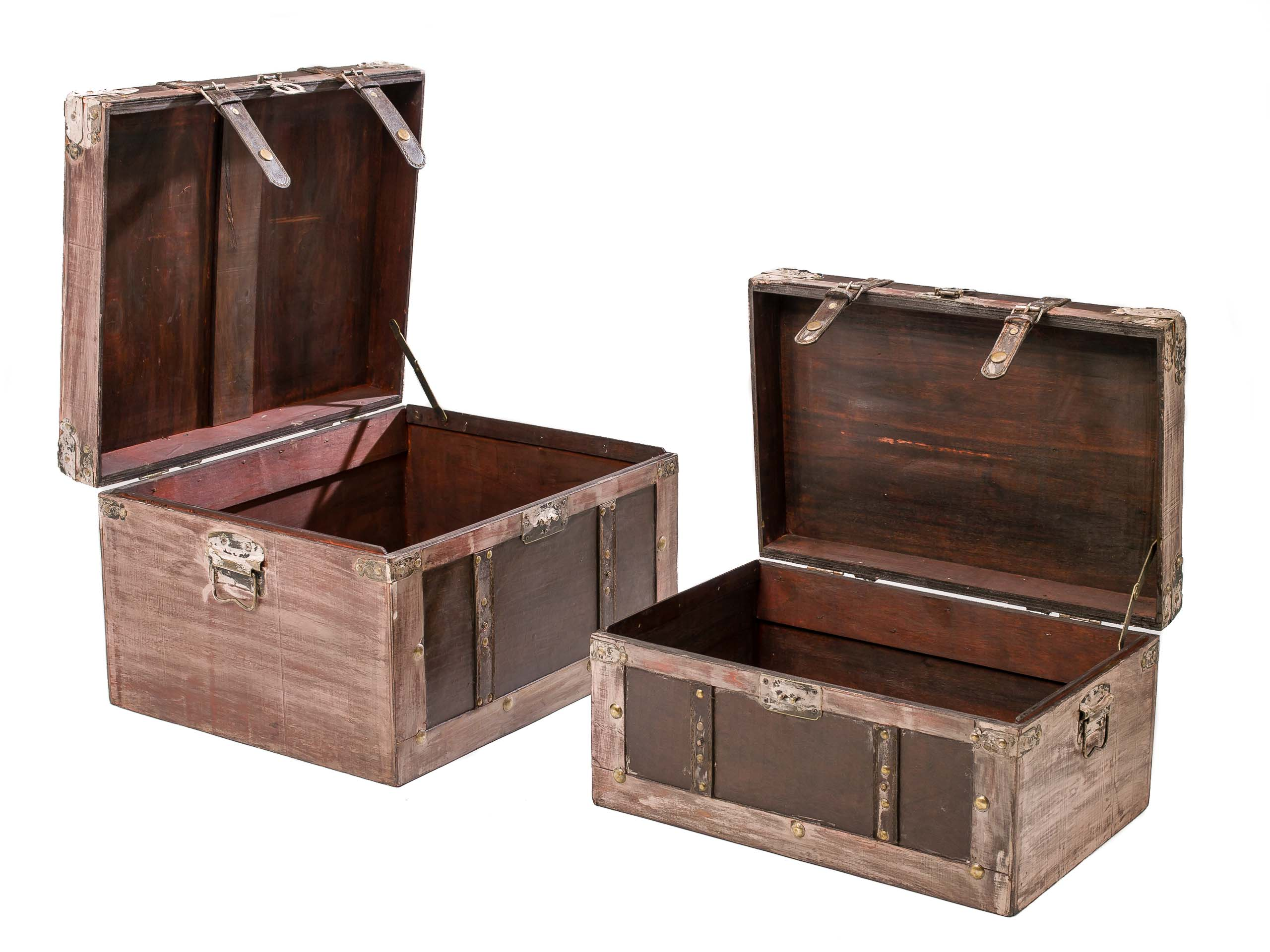 Truhe Aufbewahrung Set Of 2 Beautiful Chests Antique Style Set Wood Large