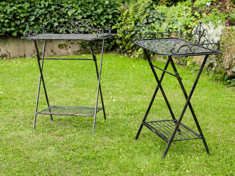 Gartentisch Eisen Garnitur Gartentisch 4 Stuhle Grun Eisen