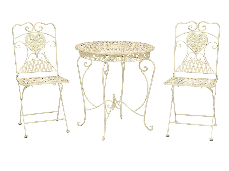 Salon De Jardin Ebay | Salon De Jardin 1 Table Et 2 Chaises Fer Style