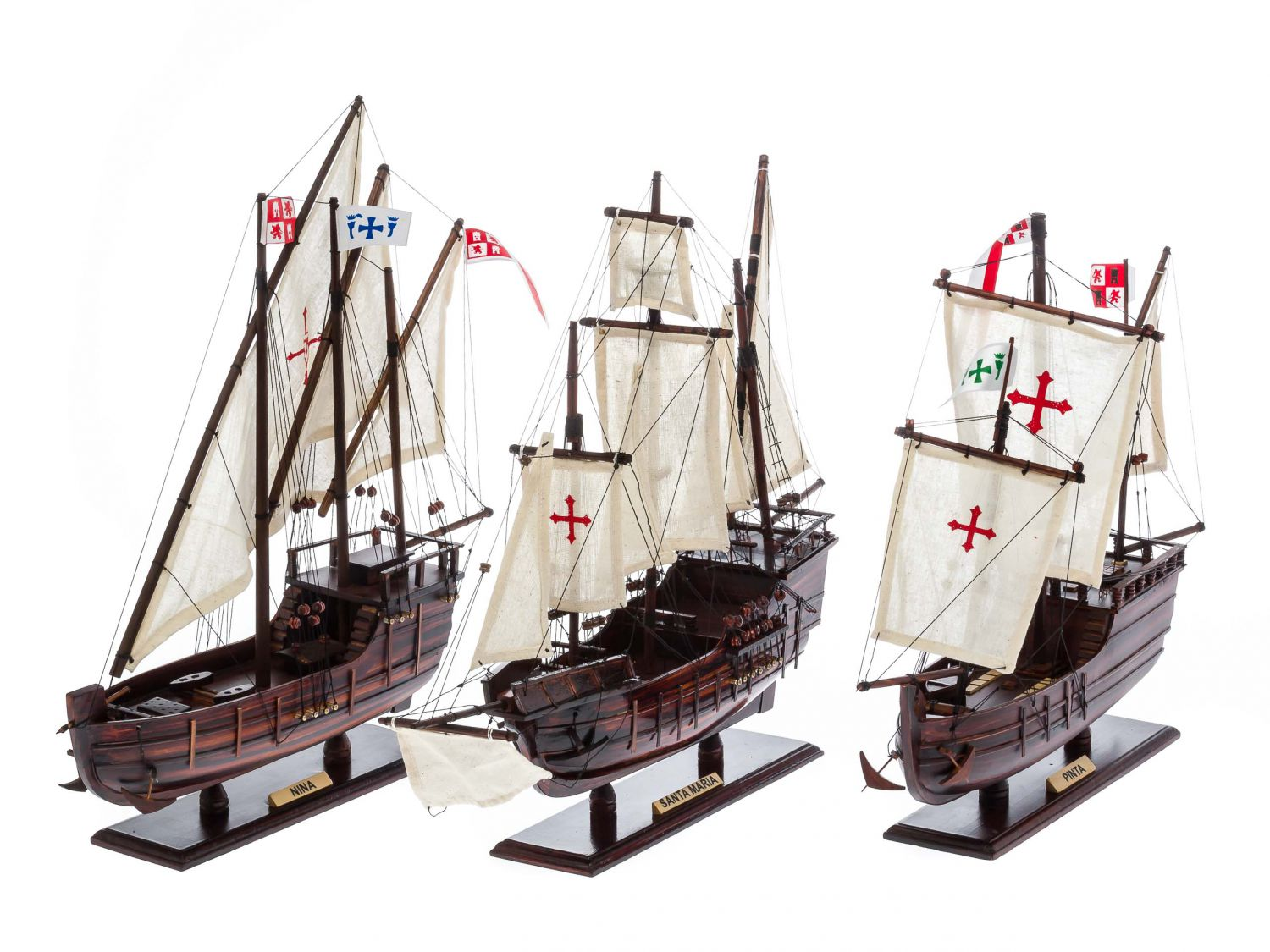 Furniture Stores Santa Maria Columbus Nautical Memorabilia Fleet Set Of 3 Model Ships
