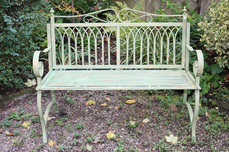 Mobilier Jardin Banc Fer | Banquette Bacchus Ancien Lit En Fer Forgé ...