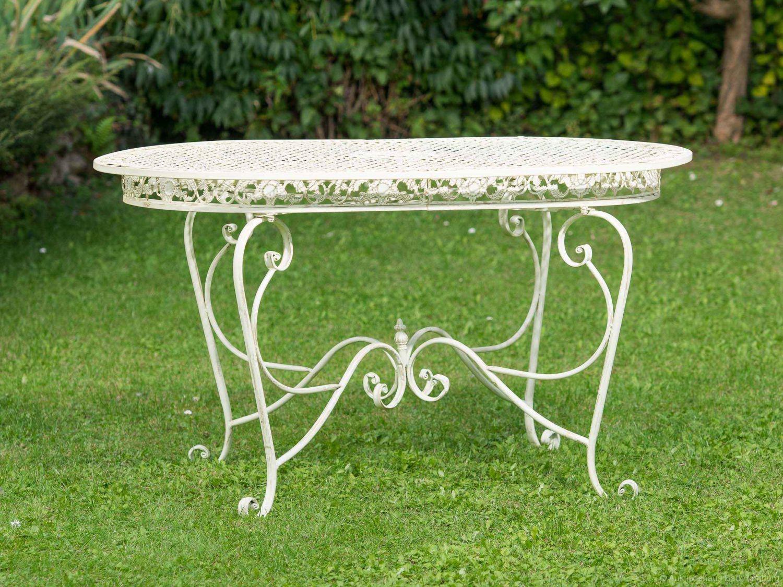 Tavolo In Ferro Battuto Da Esterno : Tavolo ferro battuto ovale tavolo rotondo in ferro battuto casa e