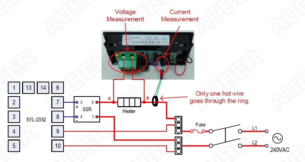 2-in-1 LCD Voltmeter Ammeter Gauge DVA-120 - $1750  Auber