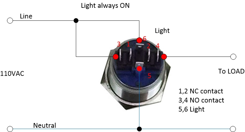 Wiring A Button Switch standard electrical wiring diagram