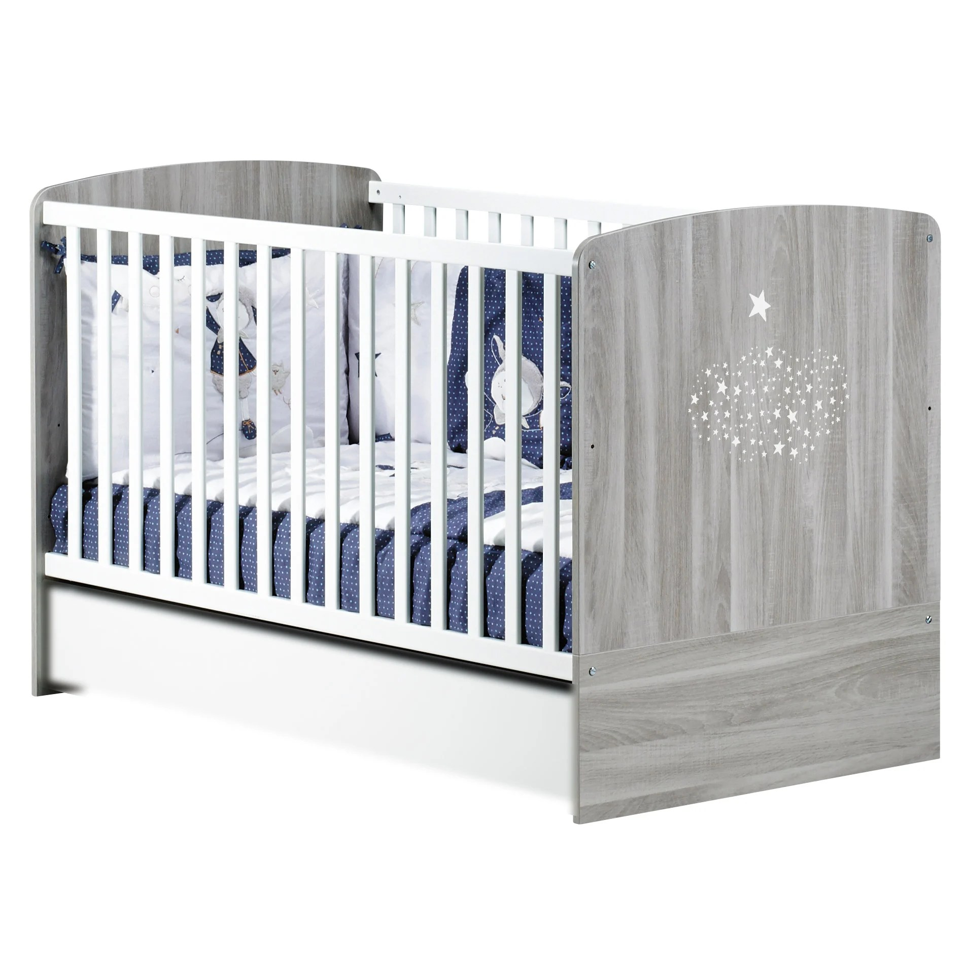 Lit Sauton Hugo Little Big Bed 70x140 Cm Gris
