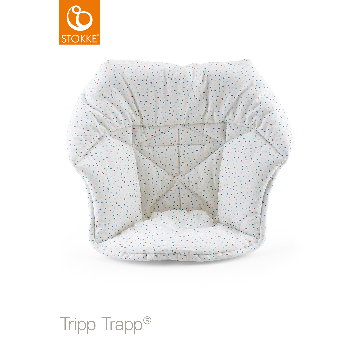 Stokke Coussin Pour Chaise Tripp Trapp Tweed Brume