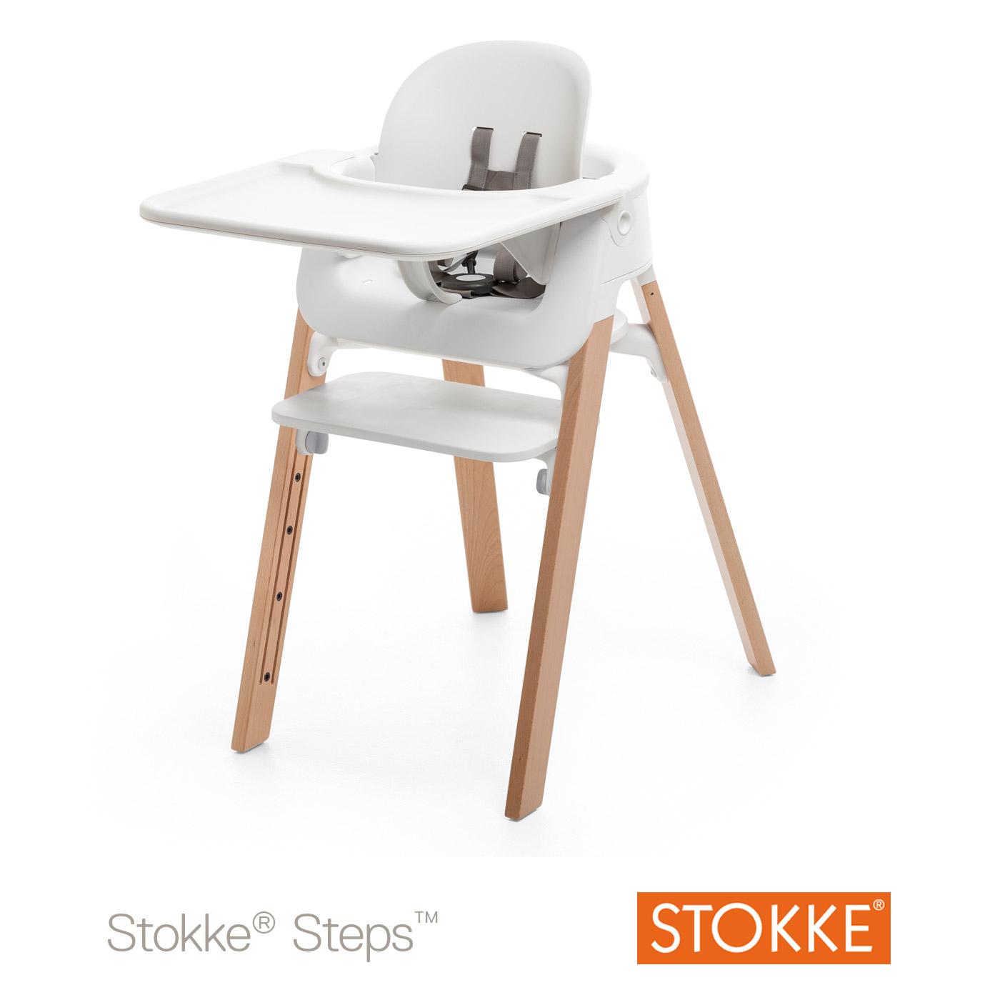Tablette Steps Pour Baby Set Blanc De Stokke Chaises