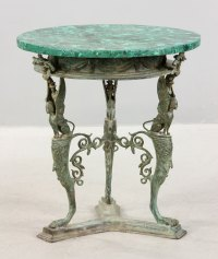 Lot Detail - Russian Malachite Top Bronze Round Table