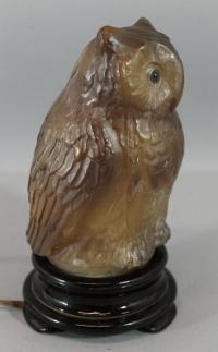 Antique 1930s Tiffin-Franciscan Figural OWL Bird Art Glass ...