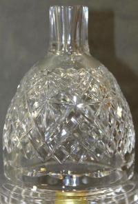 RARE! Antique Waterford Cut Crystal Electric Hurricane ...