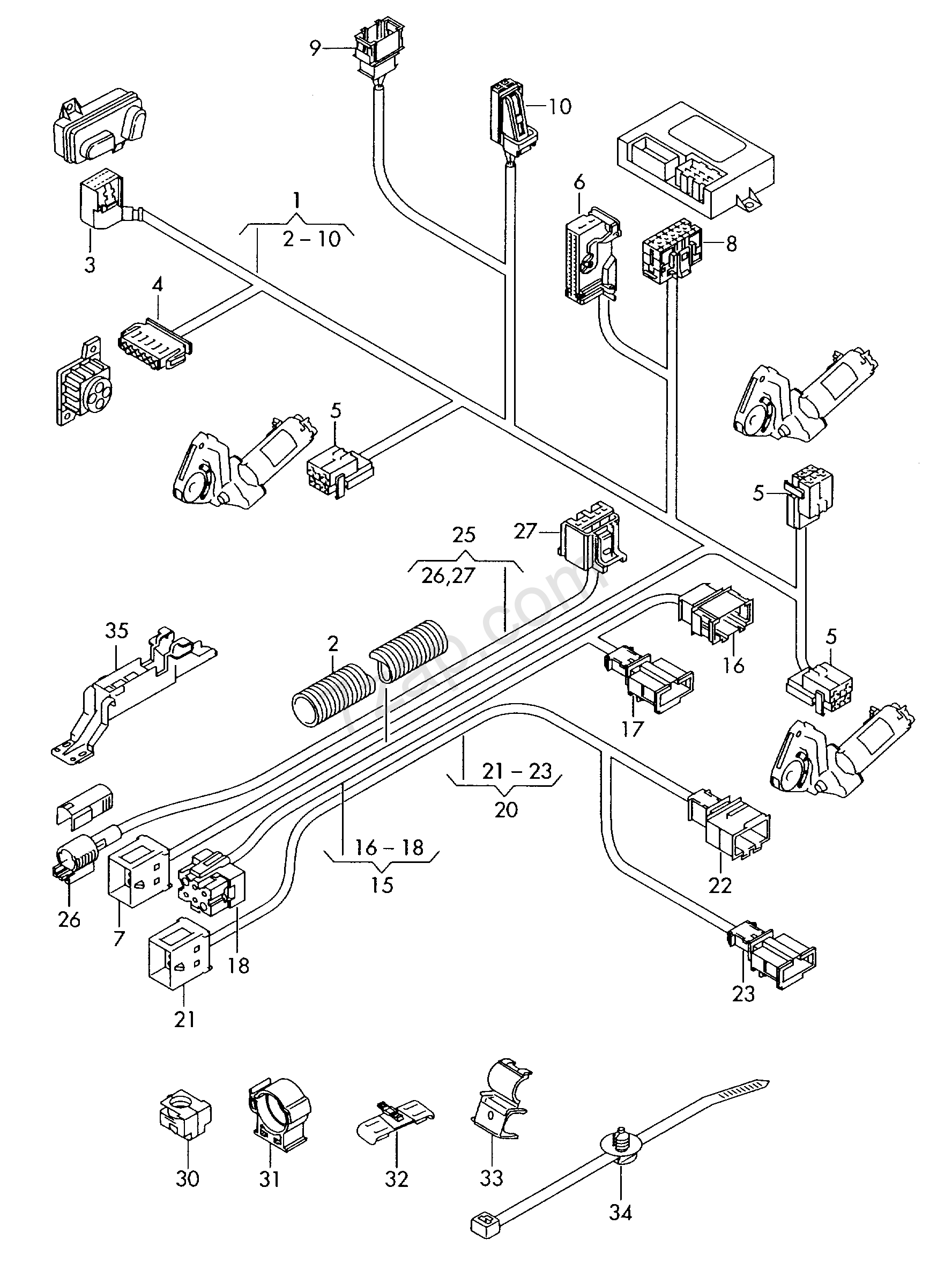 seat belt airbag wiring harness