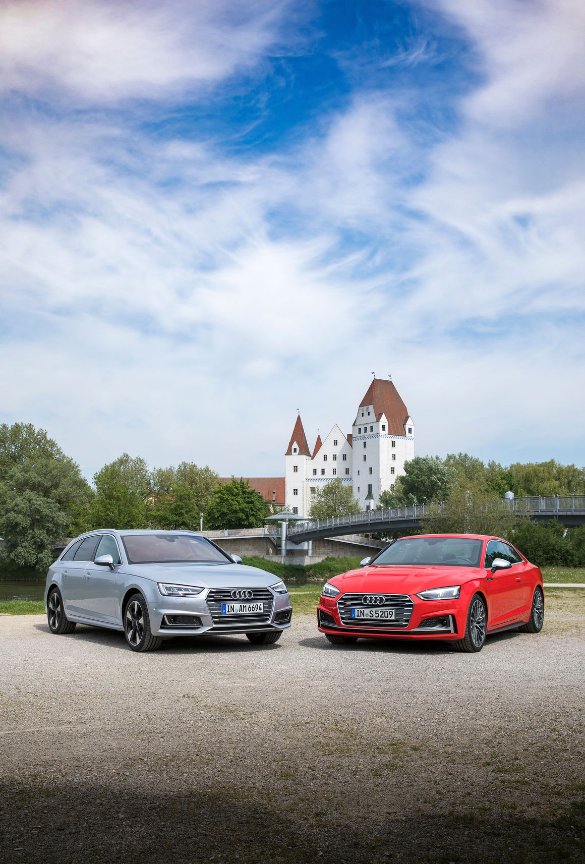 Audi A4 Coupe On The Road With The Audi A4 Avant And Audi S5 Coupé In Ingolstadt
