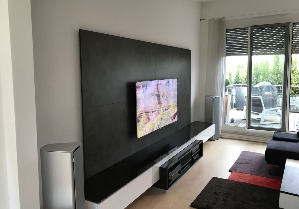 Tv An Die Wand Tv-wand Mit Medien Low Board | Audio-team - Home Entertainment