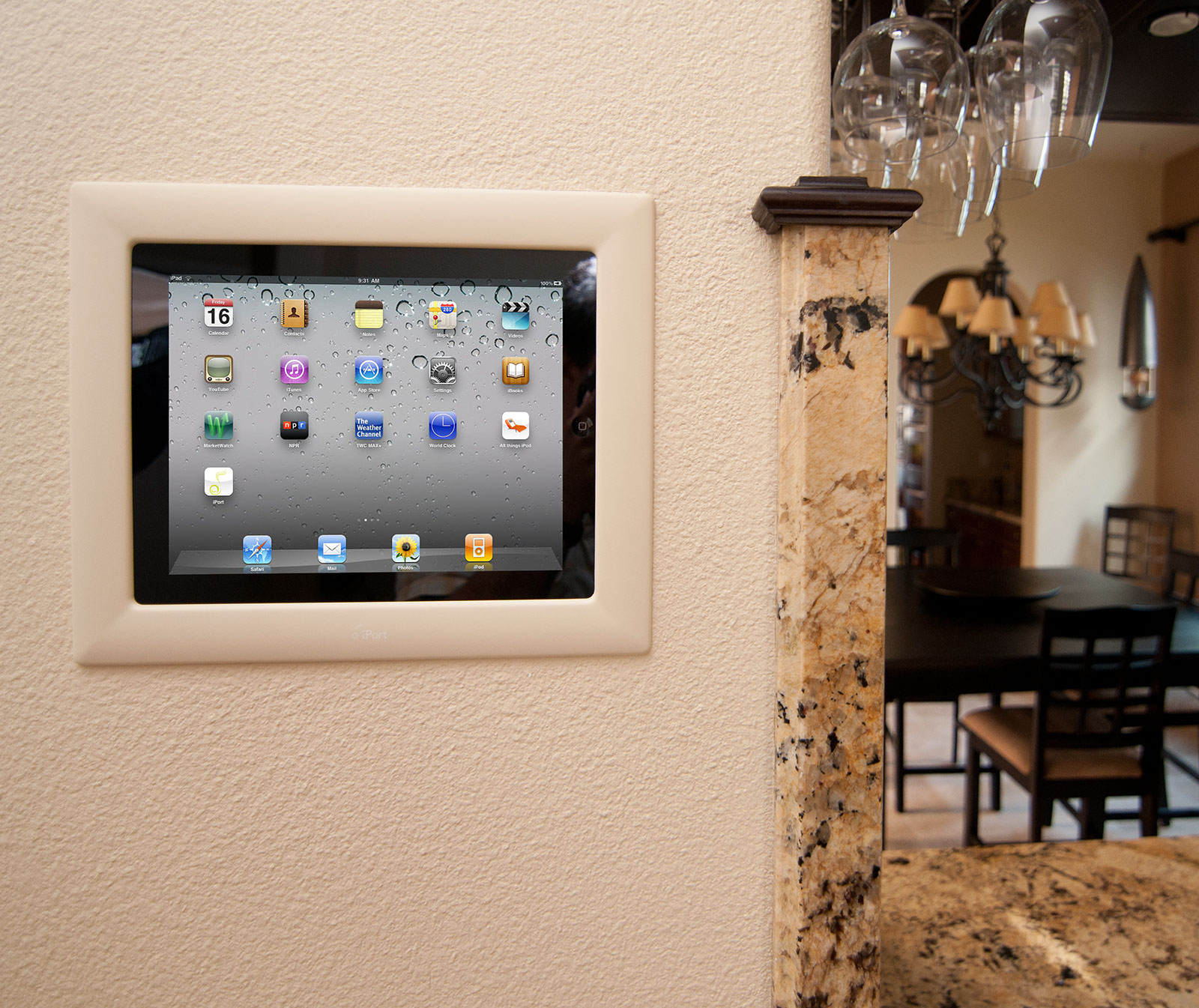 Tablet Wandhalterung Mit Ladefunktion Iport Turns Apple Ipad Into In-wall Touchscreen | Audioholics