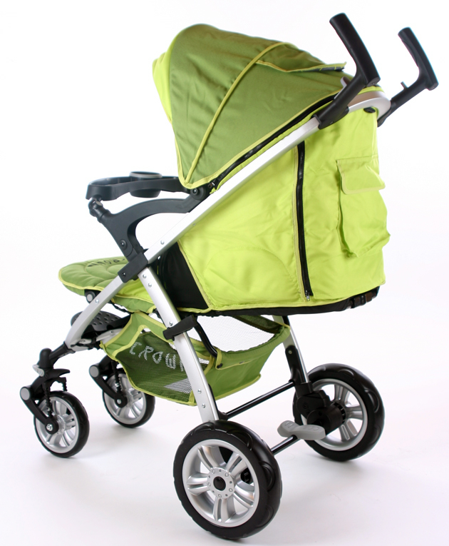 Crown Buggy Räder Crown Deluxe Kinderwagen Buggy 4 Rad Sportwagen Faltbuggy