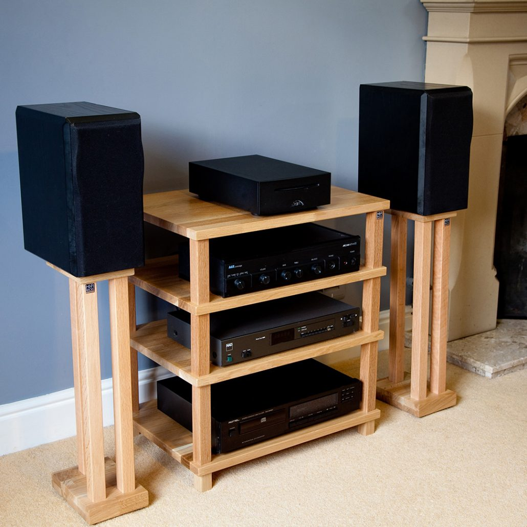 Hifi Rack Oak Hi Fi Racks Podium Slimline Audio Republic Hifi Shop Leeds