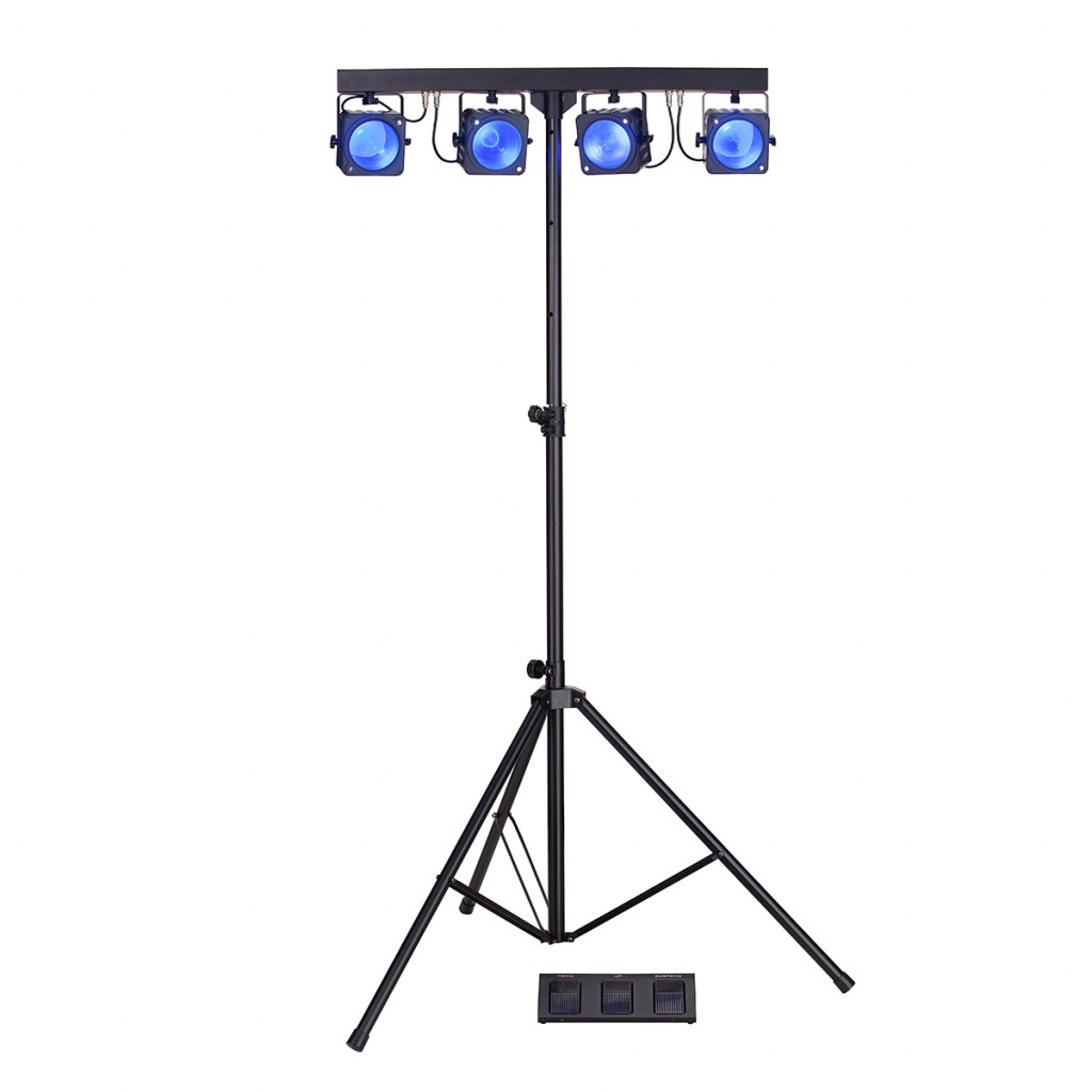 Cob Led Verlichting 4x30w Rgb Cob Led Par Bar With Fresnel Lens And Light Stand Soundsation 4ledkit Cob