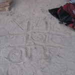 to keep ourselves entertained we played tic tac toe