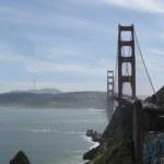 San Francisco and the Golden Gate Bridge.