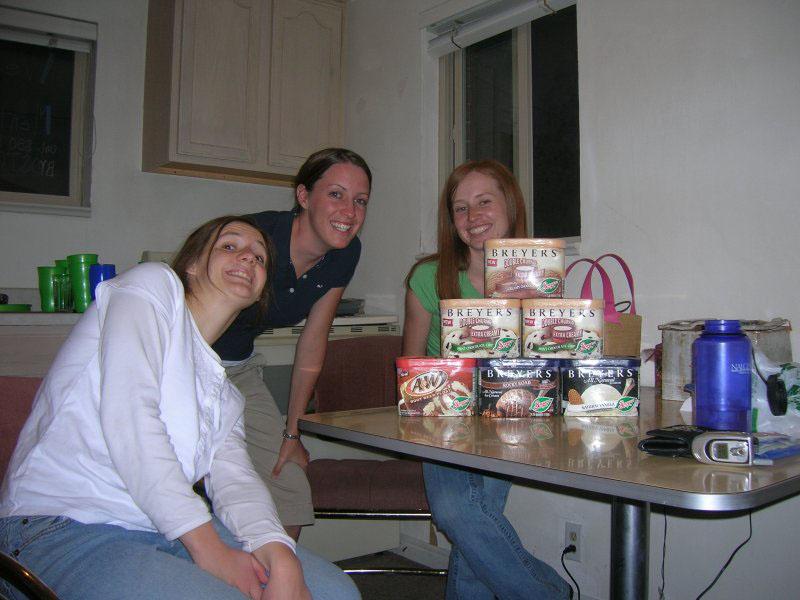 Linda, Aubrey, Audrey and Ice cream
